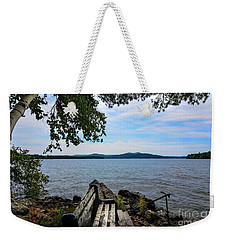 Waiting For Me Weekender Tote Bag by Mim White