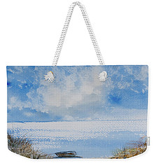 Weekender Tote Bag featuring the painting Waiting For Sailor's Return by Dorothy Darden