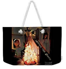 Waiting For Santa Weekender Tote Bag by Jodie Marie Anne Richardson Traugott          aka jm-ART