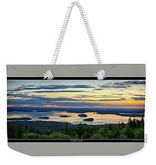 Waiting For Sunrise, Acadia National Park Weekender Tote Bag