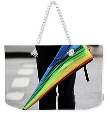 Weekender Tote Bag featuring the photograph Waiting For Superman  by Empty Wall