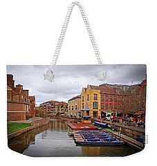 Weekender Tote Bag featuring the photograph Waiting For The Tourists Cambridge by Gill Billington