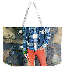 Young Man Waiting For You Weekender Tote Bag