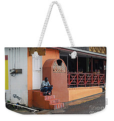 Weekender Tote Bag featuring the photograph Waiting by Gary Wonning