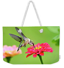 Weekender Tote Bag featuring the photograph Waiting In The Wings by Christina Rollo