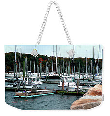 Weekender Tote Bag featuring the photograph Waiting Out The Storm by Lon Casler Bixby