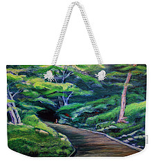 Weekender Tote Bag featuring the painting Waiting by Ron Richard Baviello