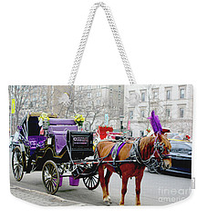 Weekender Tote Bag featuring the photograph Waiting by Sandy Moulder