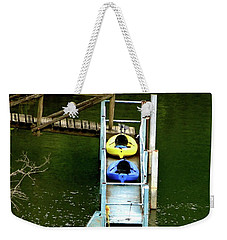 Waiting To Kayak Weekender Tote Bag