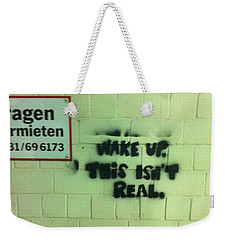 Weekender Tote Bag featuring the photograph Wake Up by Christin Brodie