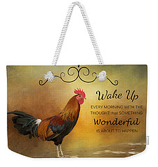 Wake Up Weekender Tote Bag