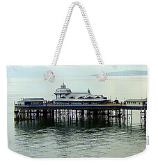 Weekender Tote Bag featuring the photograph Wales Boardwalk by Joan  Minchak