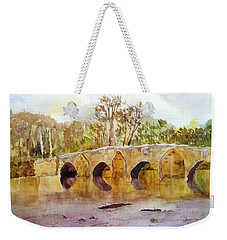 Wales Dipping Bridge Weekender Tote Bag by Larry Hamilton