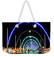 Weekender Tote Bag featuring the photograph Walk Along The Floating Bridge, Willemstad, Curacao by Kurt Van Wagner
