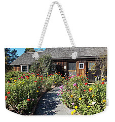 Walk Among The Zinnias Weekender Tote Bag by Catherine Gagne