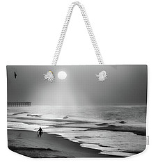 Weekender Tote Bag featuring the photograph Walk Beneath The Moon by Karen Wiles