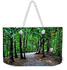 Weekender Tote Bag featuring the photograph Walk In The Woodlands by Gary Wonning