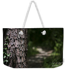 Weekender Tote Bag featuring the photograph Walk In The Woods by Andrea Silies