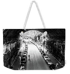 Weekender Tote Bag featuring the photograph Walk The Tunnel by Perry Webster