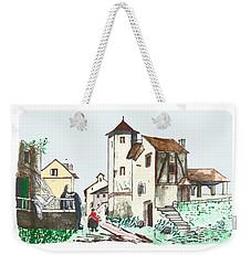 Walk Through Town Weekender Tote Bag
