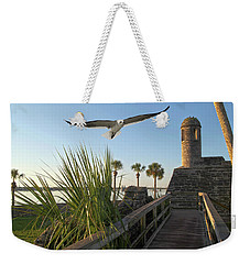 Walk To The Fort Weekender Tote Bag