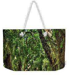 Weekender Tote Bag featuring the photograph Walk With Me Avenue Of Oaks St Simons Island Art by Reid Callaway