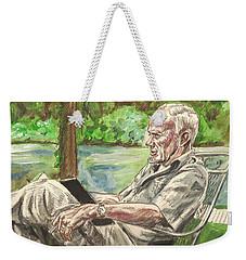 Walker Percy At The Lake Weekender Tote Bag