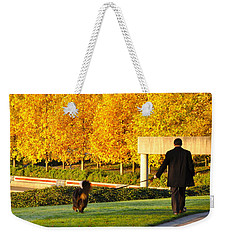Walkies In Autumn Weekender Tote Bag