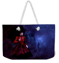 Weekender Tote Bag featuring the digital art Walking After Midnight by Methune Hively