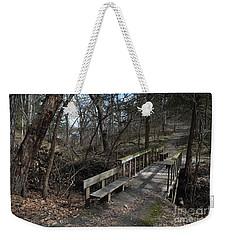 Walking Bridge Weekender Tote Bag by Renie Rutten