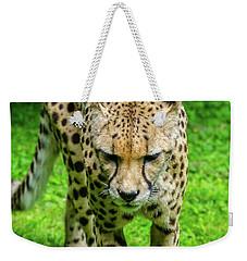 Walking Cheeta Weekender Tote Bag by Rainer Kersten