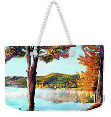 A Walk Down Lake Champlain Weekender Tote Bag