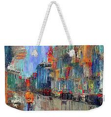 Walking Down Street In Color Splash Weekender Tote Bag