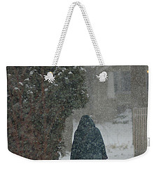 Walking Home In The Snow Weekender Tote Bag
