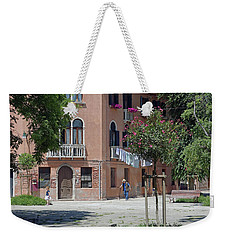 Walking In A Quiet Neighborhood On Murano Weekender Tote Bag