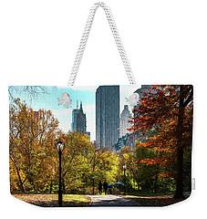 Walking In Central Park Weekender Tote Bag