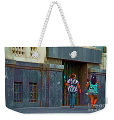 Weekender Tote Bag featuring the photograph Walking In Lima, Peru by Mary Machare