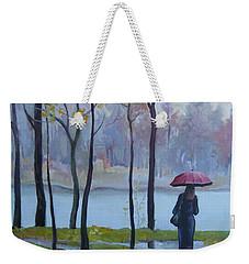 Walking In The Rain Weekender Tote Bag
