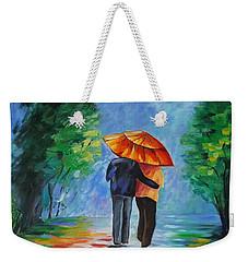 Walking In The Rain II Weekender Tote Bag