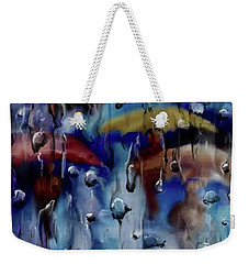 Weekender Tote Bag featuring the digital art Walking In The Rainfall by Darren Cannell