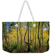 Weekender Tote Bag featuring the photograph Walking In The Woods by Scott Read