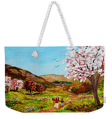 Walking Into The Springfields Weekender Tote Bag
