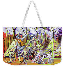 Walking The Dog 1 Weekender Tote Bag