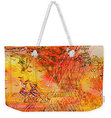 Walking The Dog 6 Weekender Tote Bag
