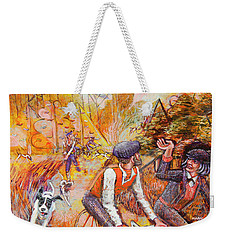 Walking The Dog 7 Weekender Tote Bag