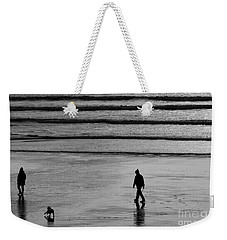 Weekender Tote Bag featuring the photograph Walking The Dog At Marazion by Brian Roscorla