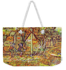 Walking The Dog 4 Weekender Tote Bag