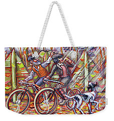Walking The Dog 2 Weekender Tote Bag