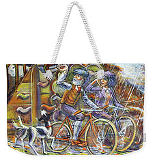 Walking The Dog 3 Weekender Tote Bag
