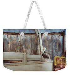 Weekender Tote Bag featuring the photograph Walking The Plank by Benanne Stiens